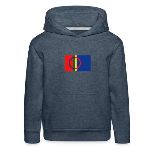 Samiska flaggan - Premium-Luvtröja barn