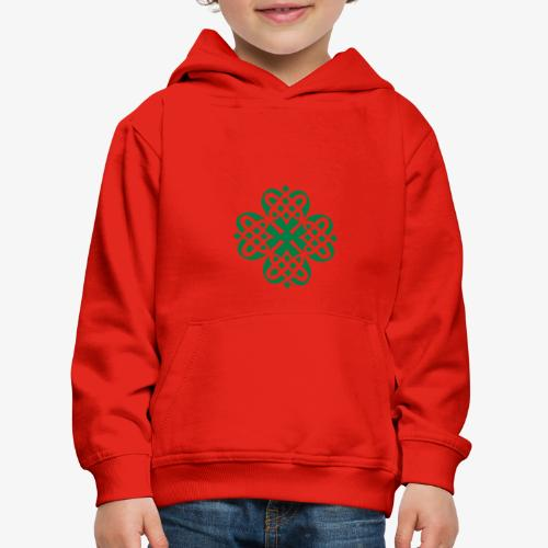 Shamrock Celtic knot decoration patjila - Kids' Premium Hoodie