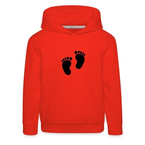 Baby voetjes - Kinderen trui Premium met capuchon