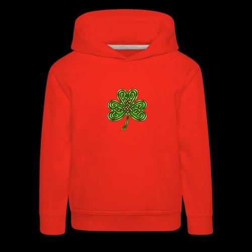 Celtic Knotwork Shamrock - Kids' Premium Hoodie