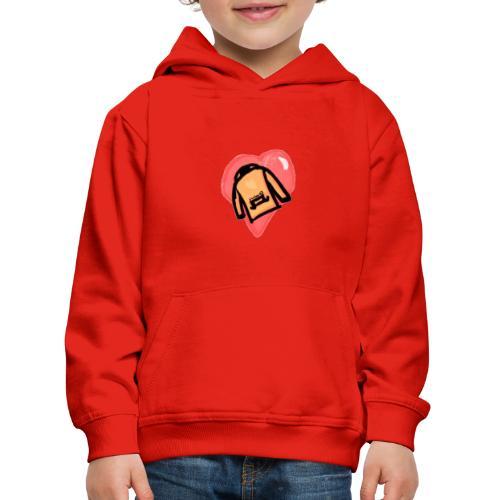 Orange I <3 Hoodies - Premium-Luvtröja barn