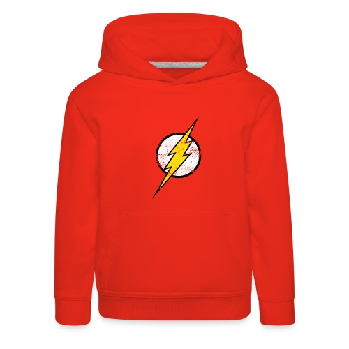 DC Comics Justice League Flash Logo - Kinder Premium Hoodie