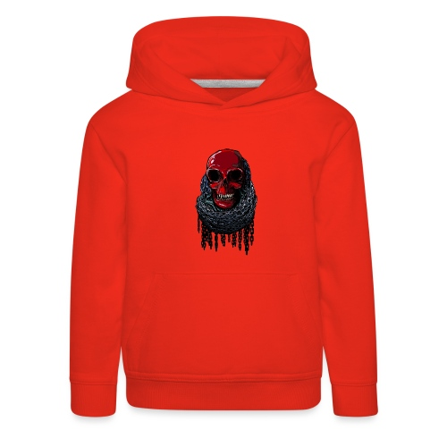 RED Skull in Chains - Kids' Premium Hoodie