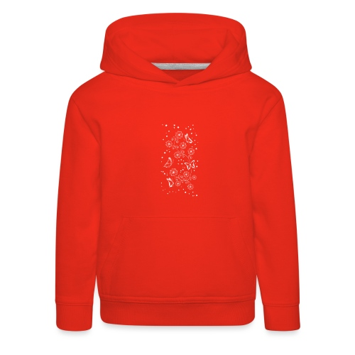 Floral and Butterflys_5_Shirt_Weiss - Kinder Premium Hoodie