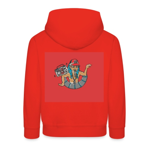 Hip Hop Dancing Pharaoh red background - Kids' Premium Hoodie