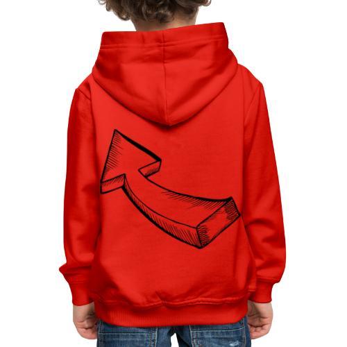 Großer Pfeil - Kinder Premium Hoodie