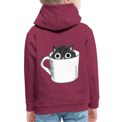 Katze in Tasse - Kinder Premium Hoodie