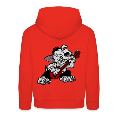 Bass Playing Bull Terrier - Kids' Premium Hoodie