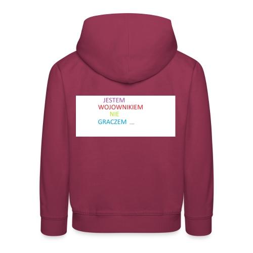 kim jesteś - Bluza dziecięca z kapturem Premium