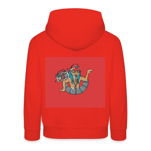 Hip Hop Dancing Pharaoh red background - Kids' Premium Hoodie