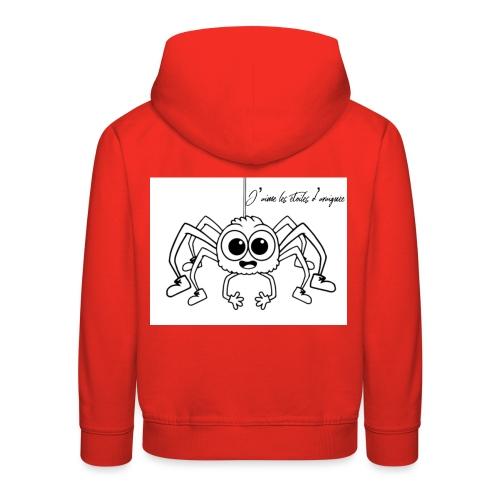 Spider Web Star - Pull à capuche Premium Enfant