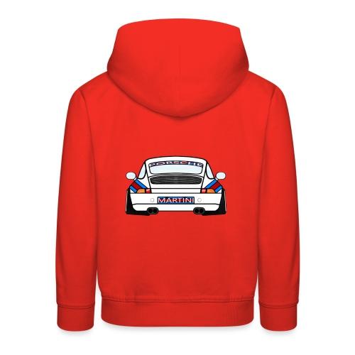 White Sports Car Maritini Livery - Kids' Premium Hoodie