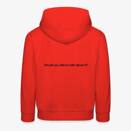 talk - Bluza dziecięca z kapturem Premium
