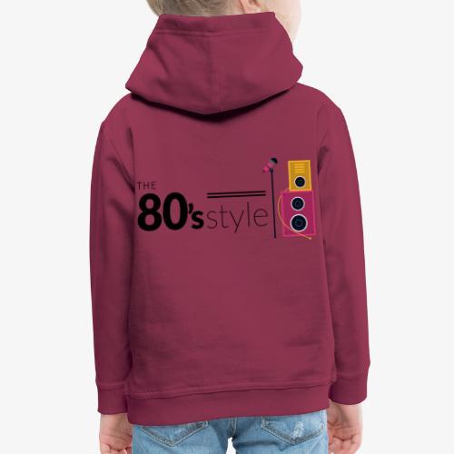80s - Sudadera con capucha premium niño