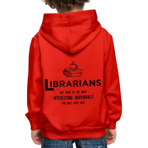 0335 Librarian Cool story Funny Funny - Kids' Premium Hoodie