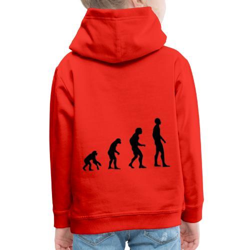 Du singe a l'homme - Pull à capuche Premium Enfant