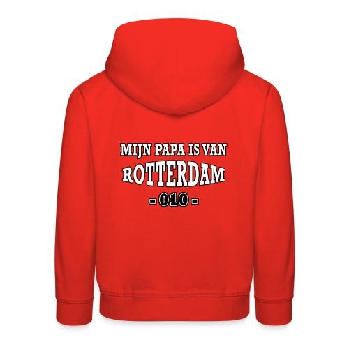 mijn papa Rotterdam - Kinderen trui Premium met capuchon