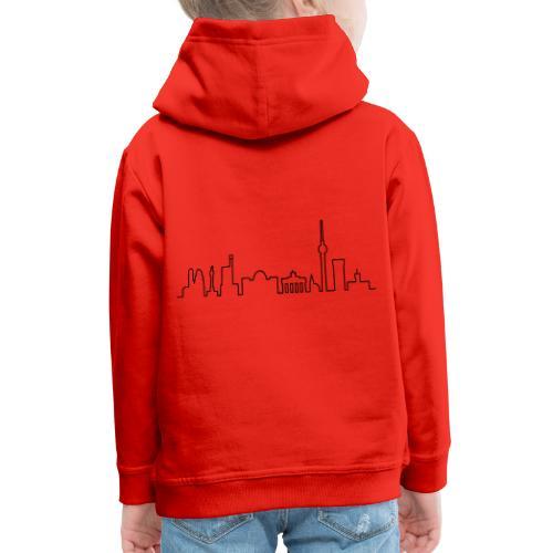 Skyline of Berlin - Pull à capuche Premium Enfant