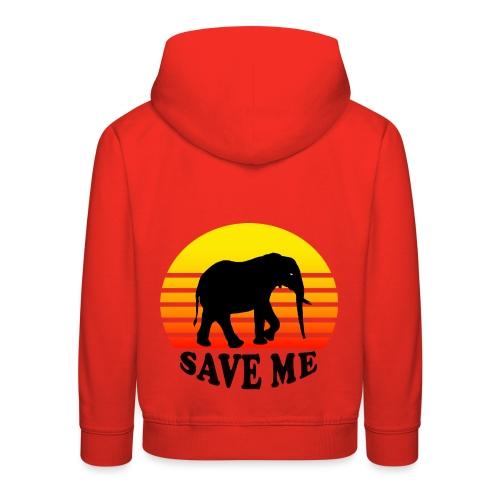 Elefant SAVE ME Schattenriss Sonne - Kinder Premium Hoodie