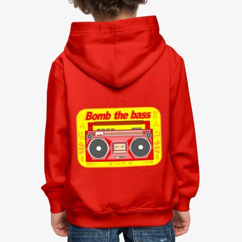 Bomb the bass !! - Pull à capuche Premium Enfant