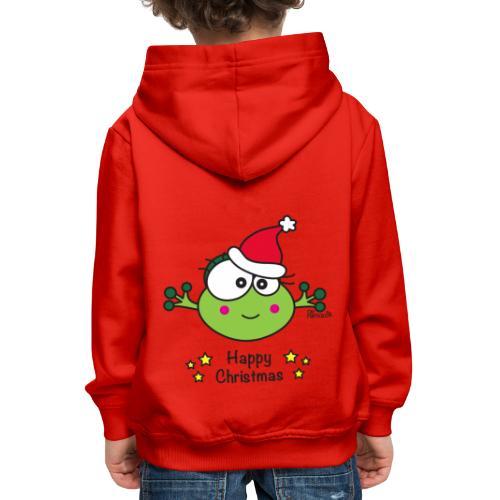 Grenouille F, Frog, Fêtes Nôel, Happy Christmas - Pull à capuche Premium Enfant