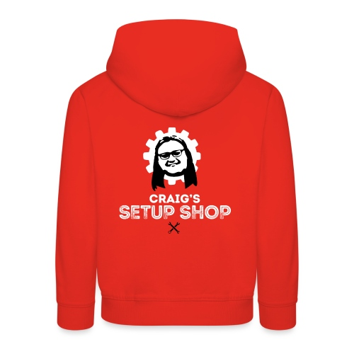 Craigs Setup Shop on Red - Kids' Premium Hoodie