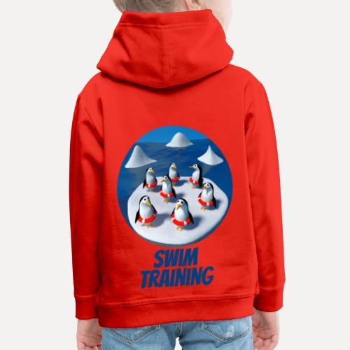 Pinguine beim Schwimmunterricht - Kids' Premium Hoodie