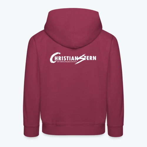 Christian Stern Logo Weiß - Kinder Premium Hoodie
