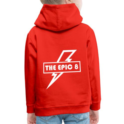 The Epic 8 - Valkoinen logo, iso - Lasten premium huppari