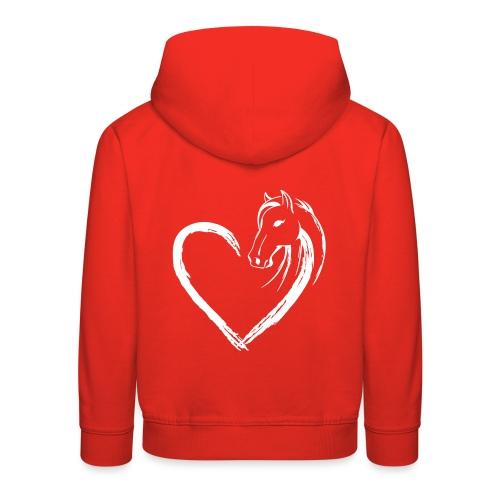 Vorschau: Pferde Herz - Kinder Premium Hoodie