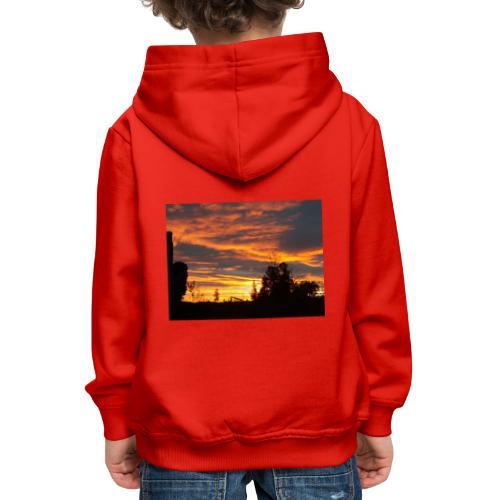 Tramonto rosso - Felpa con cappuccio Premium per bambini