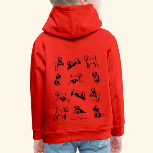 Brussels Griffon pattern - Pull à capuche Premium Enfant