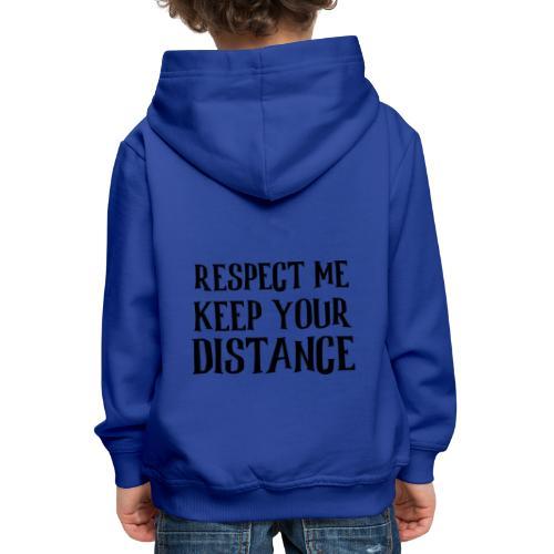 Keep Distance - Premium hættetrøje til børn
