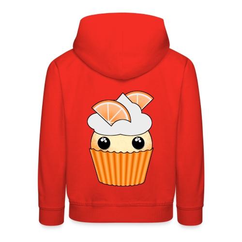 muffins apelsin orange med klyftor - Kids' Premium Hoodie