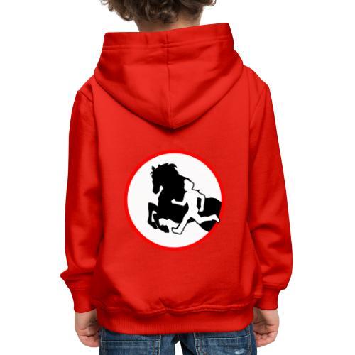 Horse Agility Logo - Kinder Premium Hoodie