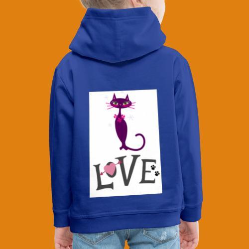 t-shirt cat love - Kids' Premium Hoodie