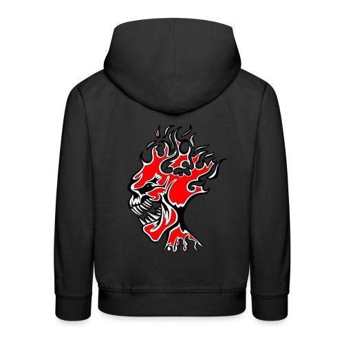Flaming Demon Head Red - Kids' Premium Hoodie