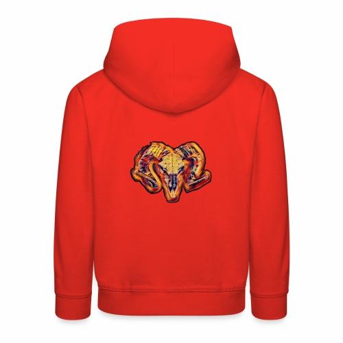 bull on fire - Sudadera con capucha premium niño