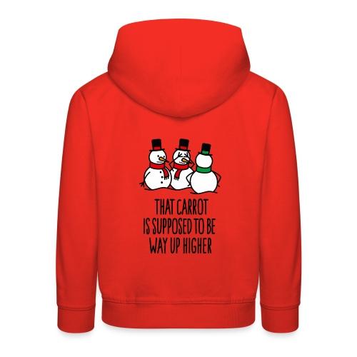 Lustige Weihnachten Geschenk Schneemann Karotte - Kinder Premium Hoodie