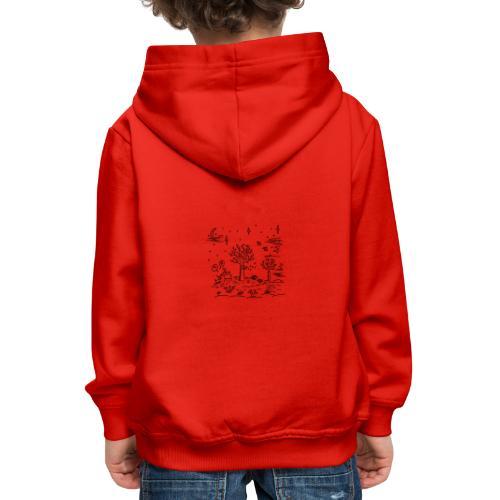 winter tafereel - Pull à capuche Premium Enfant