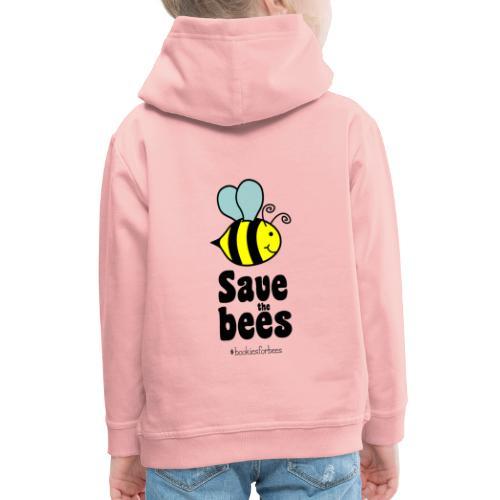 Bees9-1 save the bees | Bienen Blumen Schützen - Kids' Premium Hoodie