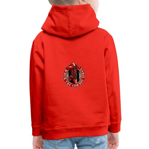 Logo when the cowboy sings - Sudadera con capucha premium niño
