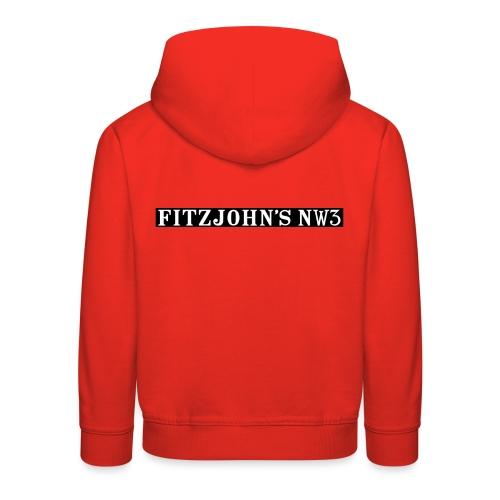Fitzjohn's NW3 black bar - Kids' Premium Hoodie
