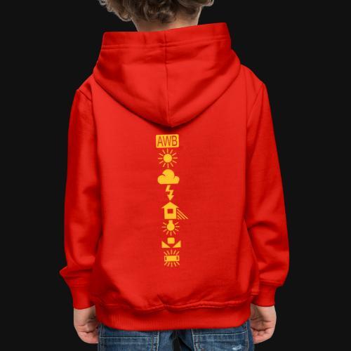 Weissabgleich Symbole Vertikal - Kinder Premium Hoodie