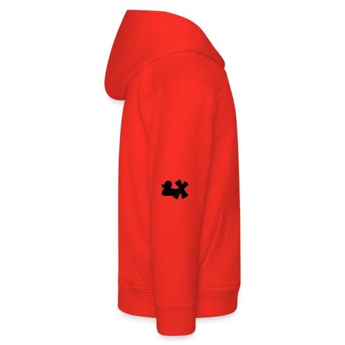 Ente mit X v3 3 klein - Kinder Premium Hoodie