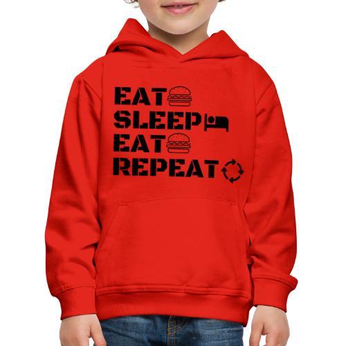 eat sleep eat repeat - Pull à capuche Premium Enfant