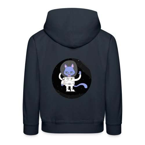 space cat - Pull à capuche Premium Enfant