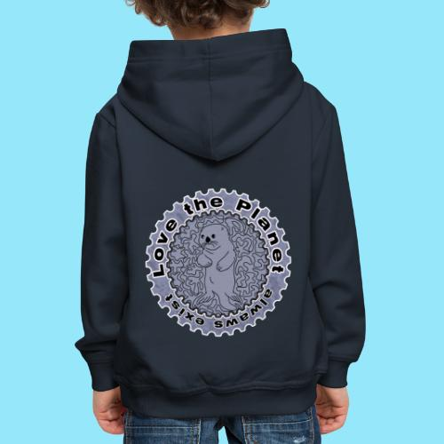Love the Planet - Otter - Kids' Premium Hoodie