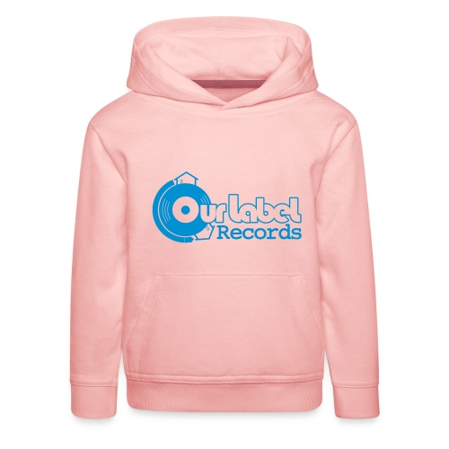 OurLabelRecords black outlines - Kids' Premium Hoodie