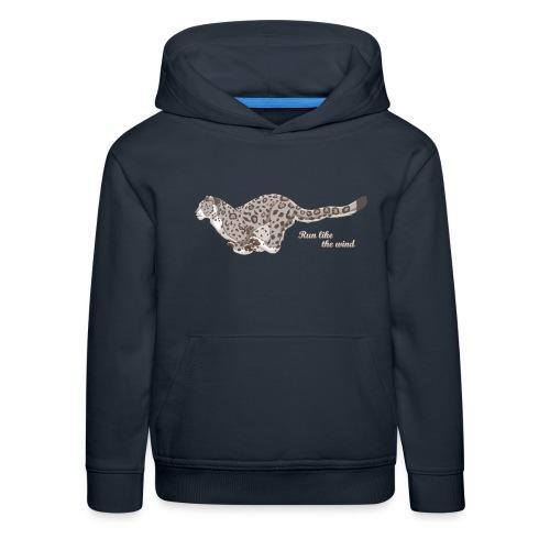 Snow Leopard: Run Like the Wind - Bluza dziecięca z kapturem Premium